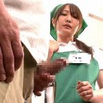 仕事中に勃起した肉棒を見せつけられ、無理矢理立バックで中出しレイプされる欲求不満の人妻