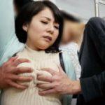 鬼畜共に電車内で痴漢されトイレに連れ込まれ中出しレイプされる巨乳人妻