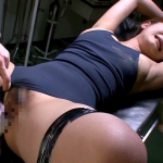 スクール水着のまま診察台に拘束され犯される巨乳美人妻