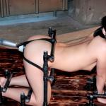 拘束具で固定されたまま犯され性奴隷アナル調教で中出しされる熟女